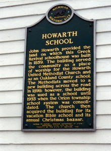 Howarth School plaque